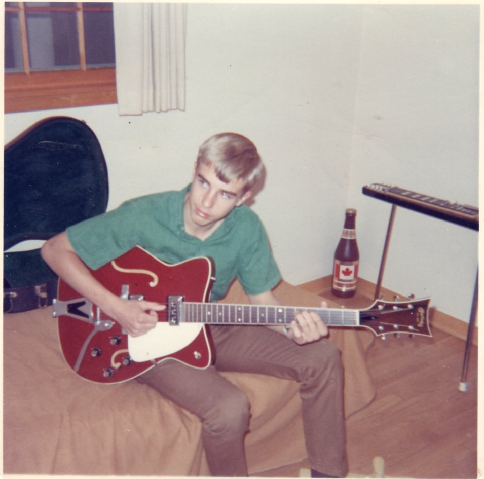 Greg At Age 14 with C. F. Martin electric guitar and Carvin lap steel